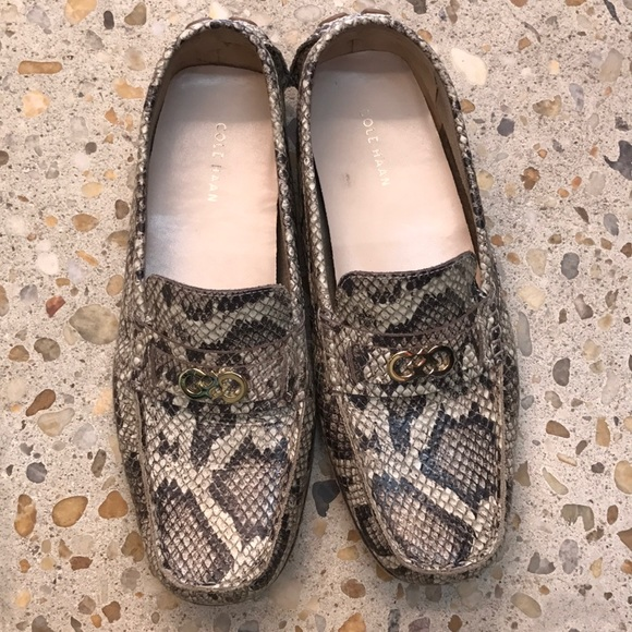 Cole Haan Snakeskin Driving Shoes